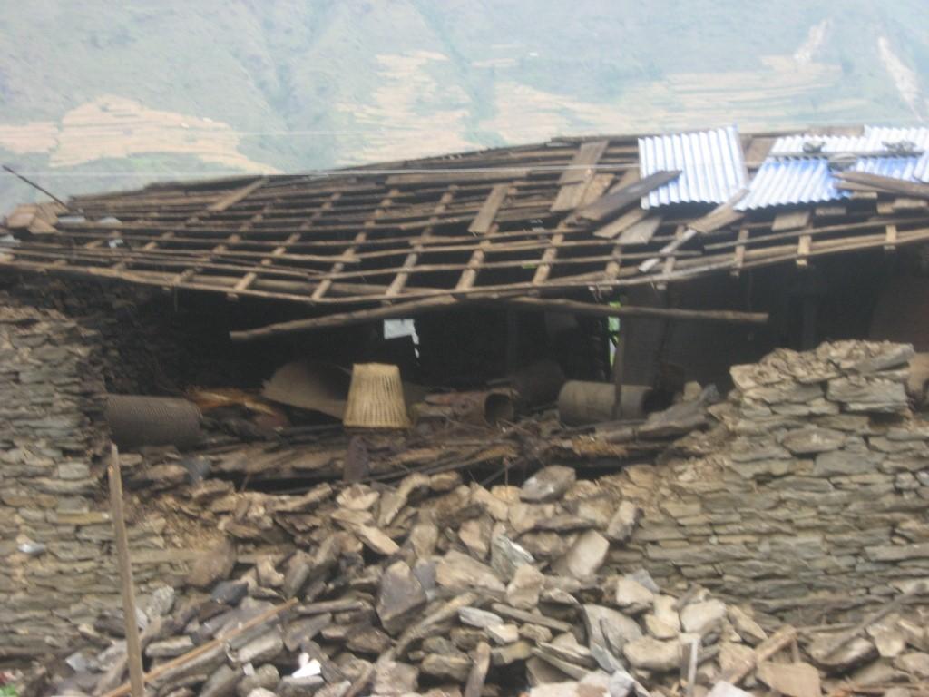 Roof and walls broken